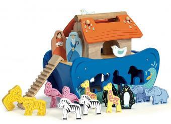 Arca di Noè in legno con incastri