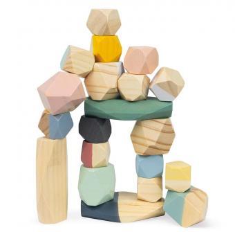 Pietre in legno da impilare