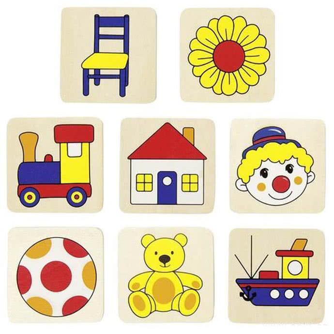 Memory in scatola di legno 16 pezzi primi giocattoli in for Giocattoli per bambini di 5 anni